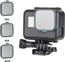 TELESIN GoPro Lens Filter -3Pack ND4 ,ND8 ,ND16 , Neutral Density Lens Filter Kit for GoPro Hero 7 Black Hero 2018 Hero 6 Hero 5 Black, GoPro Camera Lens Accessories (ND 4/8/16)