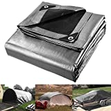 Yescom 20x30ft Heavy Duty Reinforced Poly Tarp Waterproof Tarpaulin 10-mil Ground Sheet Camping Tent Cover with Eyelets