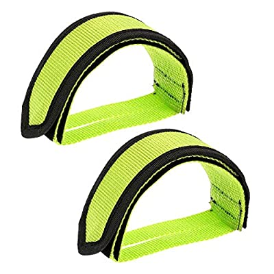 VOKOLY 2pcs Bike Pedal Strap Lightweight Nylon Toe Clips Straps for Fixed Gear Bike (SA22G-2)