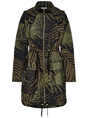 Only Onljasmin Oversized Parka Box Otw, Multicolor (Kalamata AOP: Dark Palm), 36 (Talla del Fabricante: X-Small) para Mujer