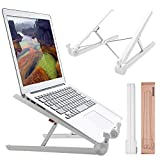 RioRand Portable Laptop Desk Stand Foldable, Ergonomic Computer Stand Cooling Pad, Ventilated Laptop