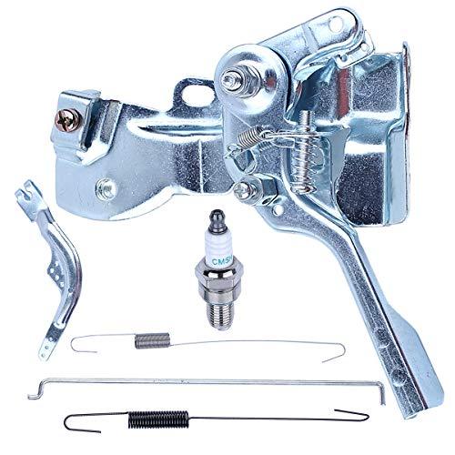 Adefol Conjunto de Brazo de Palanca de Control del Acelerador con Varilla del gobernador Resorte de Retorno Kit para Recortadora de Motor Honda GX160 GX200 16500-ZH8-823