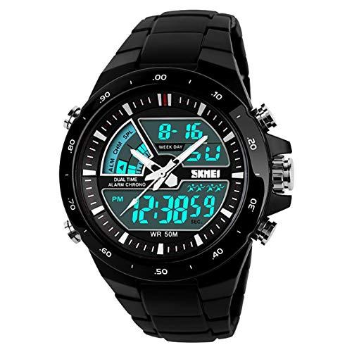 TANGTANGYI Männer und Frauen Uhr Armbanduhr Elektronische Uhr Smartwatch Mechanische Uhr Quarzuhr LED elektronische Anzeige Multifunktionswecker Licht wasserdicht