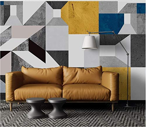 3D Wallpaper Canvas Art Print Wall Mural Poster Abstract Square Geometric Mosaic Photo Wallpapers Murals Picture Design Modern 300X210Cm