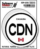 IDP-02S 国際識別記号ステッカー/カナダ(CANADA) スーツケースステッカー 機材ケースにも!