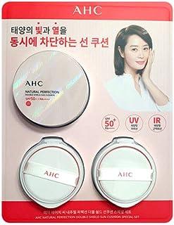 AHC Natural Perfection Double Shield Sun Cushion (UV/IR Block) SPF50+/PA++++ (25g x 3)