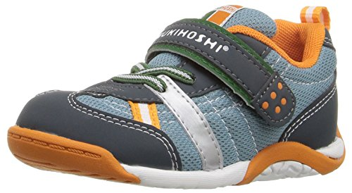 TSUKIHOSHI 1521 Kaz Child Sneaker, Charcoal/Sea - 9 Toddler
