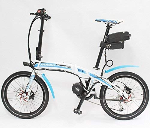 HYLH 48V 350W 8Fun Bafang Mid-Drive Motor MOSSO 20-F1 Mini Foldable Ebike+48V 12AH Battery Two Colour Choices Electric Bicycle