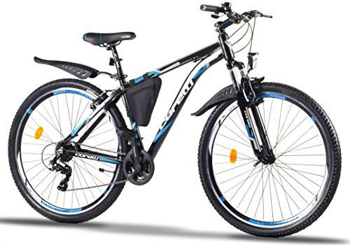 Corelli Desert Mountain-Bike 29 Zoll 27,5 Zoll 26 Zoll 24 Zoll mit Aluminium-Rahmen, Shimano 21 Gang-Schaltung & Gabelfederung als Herren-Fahrrad Damen, Jungen-Fahrrad Mädchen, Kinder-Fahrrad