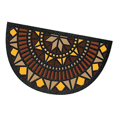 Felpudo moderno de goma con diseño de mosaico de 40 x 70 cm, parte trasera antideslizante, para la entrada o la casa, modelo 23 semilla