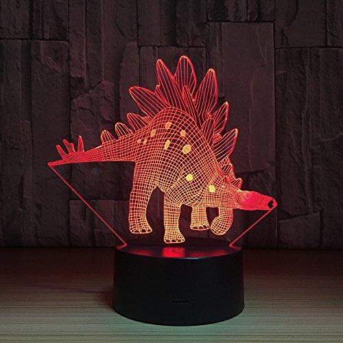 HNXDP Dinosaur 3D Lámpara 7 Color Led Lámparas de noche para niños Touch Led Usb Table Lampara Lampe Baby Sleeping Nightlight Room Lamp