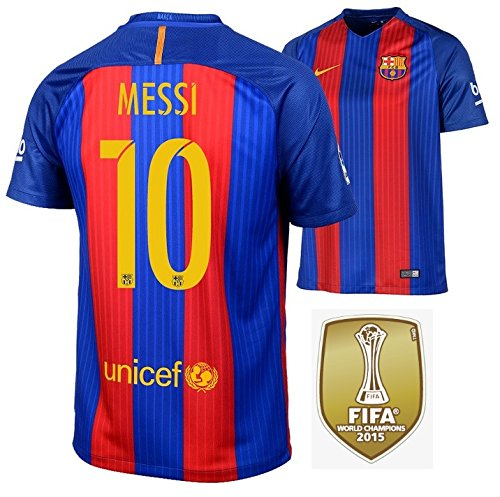 Nike Trikot FC Barcelona 2016-2017 Home WC Badge (Messi 10, M)