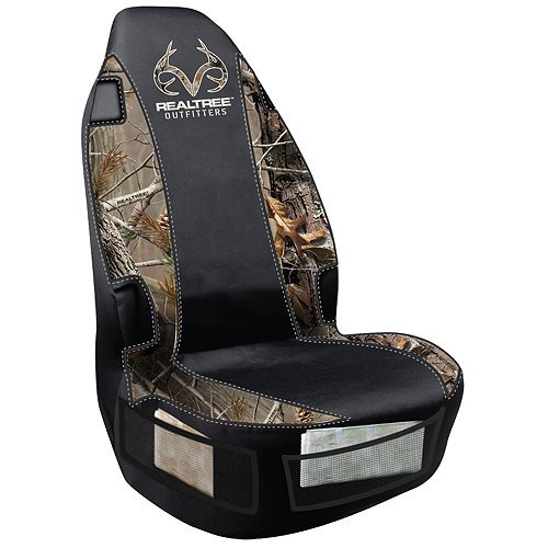 Realtree Universal Seat Cover (Realtree AP Camo, Heavy-Duty Polyester, Sold Individually)