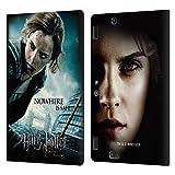 Oficial Harry Potter Hermione Granger Deathly Hallows VII Carcasa de Cuero Tipo Libro Compatible con Amazon Kindle Fire HDX 8.9