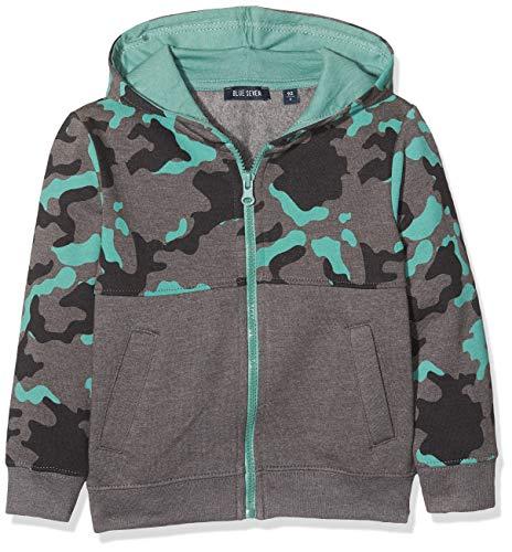 Blue Seven Jungen Camouflage-Stil Sweatjacke, Grau (Frostgrau Orig 960), (Herstellergröße: 128)