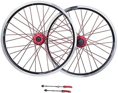 AIFCX Juego de Ruedas de Bicicletas, de 26 Pulgadas de aleación de Aluminio MTB Ruedas V-Brake Disc aro Freno Cerrado con 11 Híbrido Velocidad del Viaje de la Bici,Black-26inch