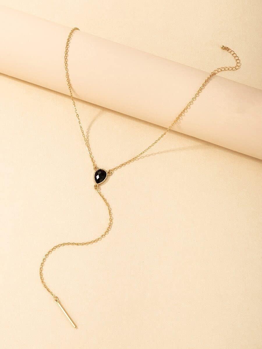 Necklace Pendant Y-Lariat Necklace (Color : Gold)