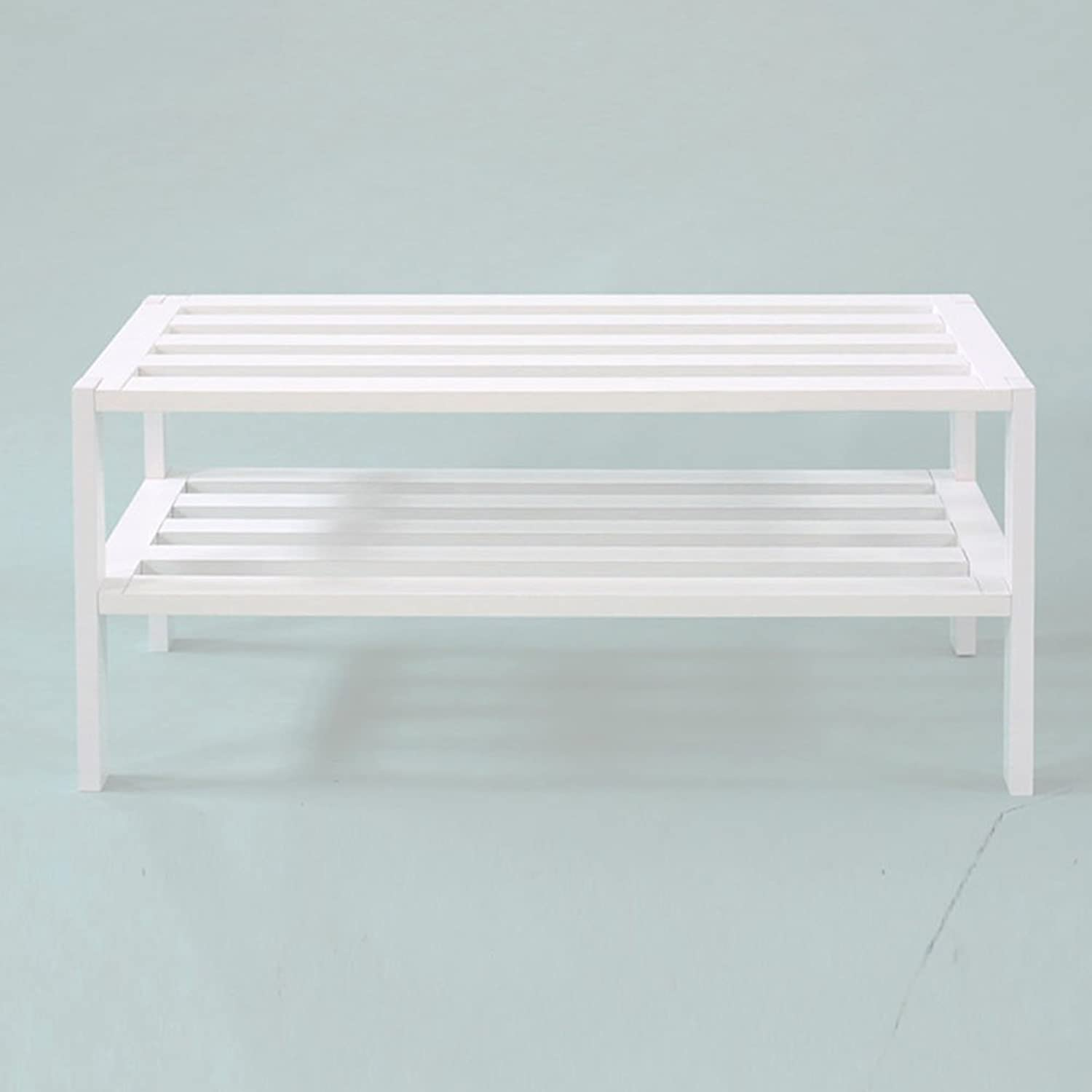 JIANFEI shoes Shelf Rack 2- Tier Simple Assembly Openwork Board Storage Cabinet, Wood (color   White)