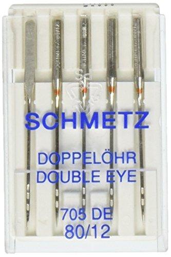 Euro-Notions Aiguilles à double oeil Taille 12/80 5/emballage Autre, multicolores, 2,63 x 7,71 x 11,39 cm