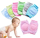 PROTECTOR: Protect your little darling soft knee & elbow from bruises & scrapes when they are curiously crawling or learn to walk. COMFORT: Stretchable flexible, sweat deodourization, anti allergic, anti slippery,soft padded fits baby perfectly. Not ...