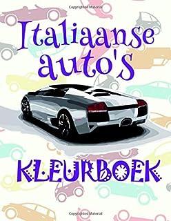 Kleurboek Italiaanse auto's ✎: Easy Coloring Book for Children 4-12 Year Old ✌ (Kleurboek Italiaanse auto's - A SERIES OF ...