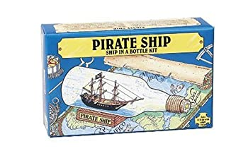 Pirate Ship in a Bottle Kit - Includes All Parts to Create a Mini Ship in a Bottle - VERY Challenging Are You up for It?