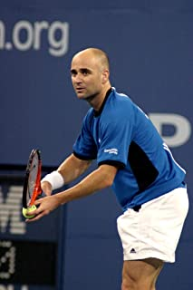 Posterazzi Poster Print Andre Agassi Inside for U.S. Open Tennis Tournament Arthur Ashe Stadium Flushing Ny September 07 2005. Photo by Rob RichEverett Collection Celebrity (16 x 20)