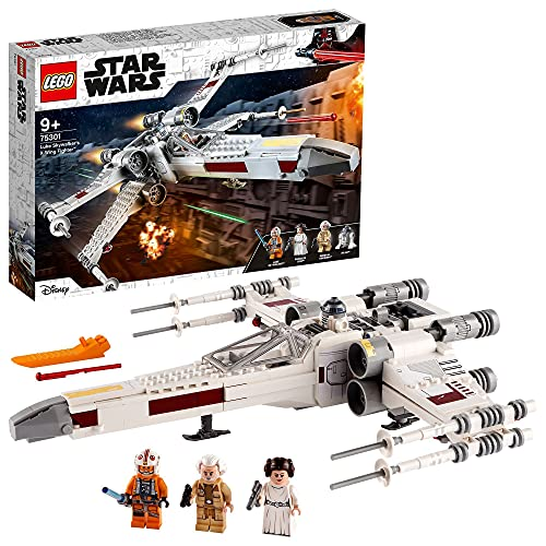 LEGO75301StarWarsCazaala-XdeLukeSkywalkerJuguetedeConstrucciónconMiniFigurasdePrincesaLeiayR2-D2Droide
