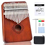 Kalimba Thumb Piano 17 Keys,Portable Mbira Sanza Finger Piano,Gifts for Kids Adults Beginners,with Songbook