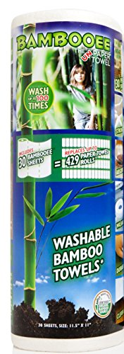 Bambooee Paper Towel Replacement 30-Sheet Roll, As Seen on SharkTank, We plant a tree with everyroll sold