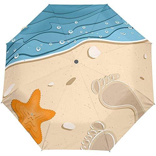 Océano Mar Playa Estrella de mar Mundo acuático Auto Cerrar Sol Lluvia Paraguas