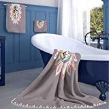 jecycleus Skyline Elements with Face Hotel Selection of Luxury Three-Piece Towels Soft, Durable, Plush and Absorbent Medium Three-Piece Towel