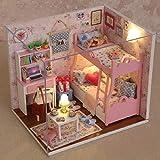 Muzhilli3 Weihnachtsdekoration, DIY Miniatur led puppenhaus Modell Handwerk mit staubdichte...
