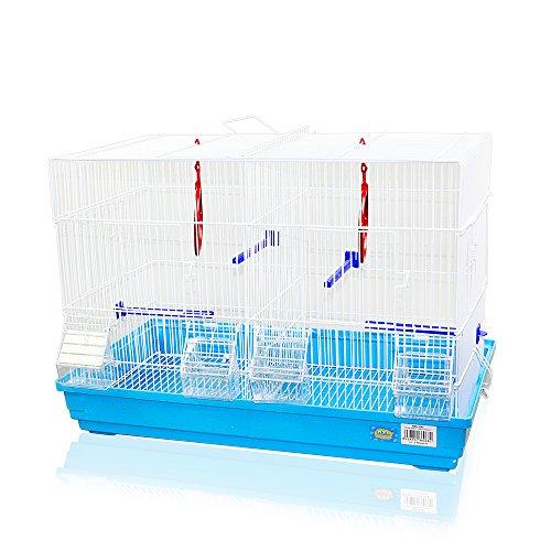 DZL jaula para pajaros(58X32X40CM) color azul ,verde ,naranja y blanco indica color preferido, si no el color de la entrega a azar