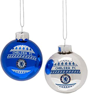 Chelsea FC Nordic Baubles Ornaments Set of Two - Perfect for any Chelsea FC Fan!