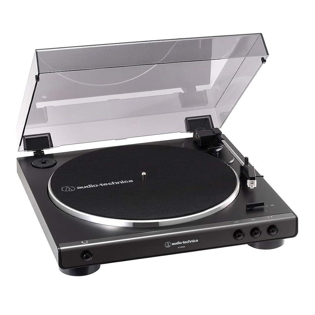 不屈多様な行為オーディオテクニカ フルオートターンテーブル(ダークガンメタリック)audio-technica AT-LP60X-DGM