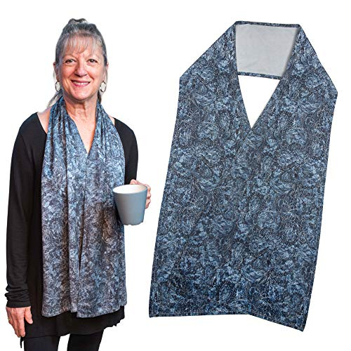 Adult Bib Scarf - Fashionable Alternative to Adult Bibs | Machine Wash & Dry | Soft Micro Suede Fabric Clothing Protector, Shirt Protectors for Adults (Zelda, Regular)
