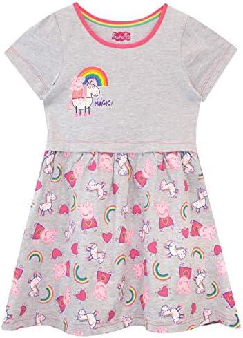 Peppa Pig Girls Unicorns Rainbows Dress Multicolored Size 6 product image