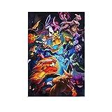 WERTQ Póster de Pokemon Tournament Art sobre lienzo y póster de pared con imagen impresa moderna para habitación familiar, 12 x 18 pulgadas (30 x 45 cm)