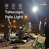 CONPEX Portable Camping Light Telescopic Fishing Rod Pole Light 48W 4800LM with IR Remote Work Light Multi-Modes for Outdoor Travelling BBQ Party Emergency Light Court Backyard Farm