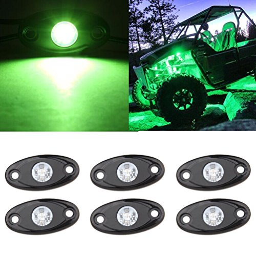LED Rock Light Kits 6 Pod LED Light Lamp for Interior Exterior Under Off Road Truck Jeep ATV SUV...