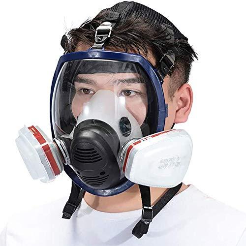 Voller Gesichtsschutz Atemschutz, Große Größe & Zubehör (Atemschutzgerät Kanister) Anti-Gas- Und Pestizidstaub, Speziell Für Den Schutz Der Öffentlichen Sicherheit,C
