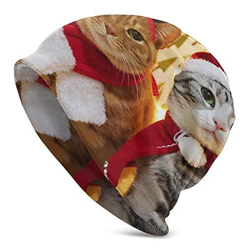 Christmas Cookies Nahtloses Muster Strickmütze Strickmütze Warme Kappe für Damen...