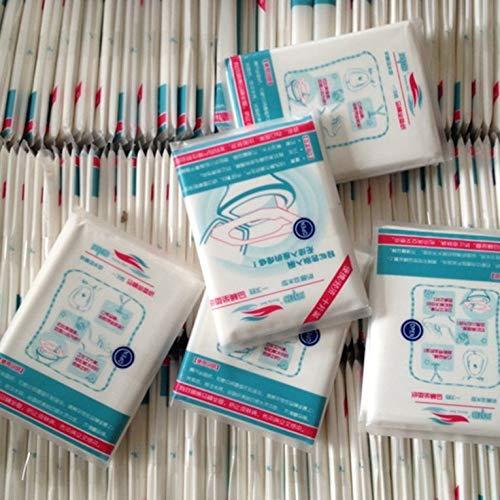 Almohadilla de papel higiénico portátil desechable para viajes, portátil, seguro, papel higiénico grueso, 10 porciones