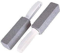 Makkelijk te gebruiken Toiletten Borstels Natuurlijke Puimsteen Schoonmaak Stone Cleaner Borstel met lange handgreep voor ...