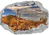 Vlies Fototapete / Poster / 3D Wandillusion /Loch in der Wand *Panorama / Wüste / Landschaft*
