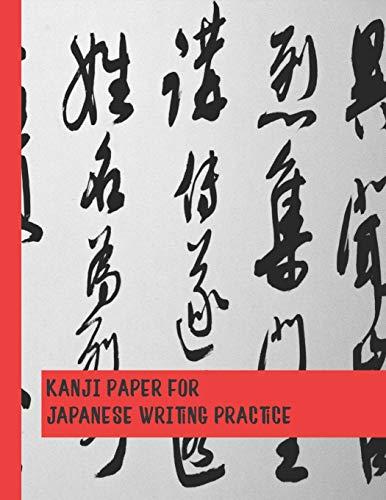Kanji paper for Japanese writing practice: Japanese Genkouyoushi Practice notebook for kana Scripts, cursive hiragana and angular katakana characters ... sumi-e calligraphy style cover art design