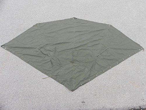 Unbekannt NATO Zeltbahn Zeltplane Drachenform oliv neuwertig Stoff