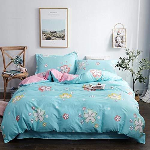 LINGs Scandinavian cotton bedding sets, duvet cover bed sheet pillowcase textile,ENZE-022,0.9m