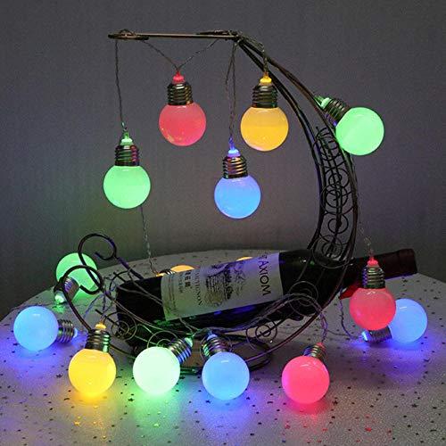 Zshhy 2M 10LEDs Bulbs String Lighting Battery Power Fairy Lights Wedding Birthday Party Garden Gazebo Pergola Rooftop Decoration-Multi_Color